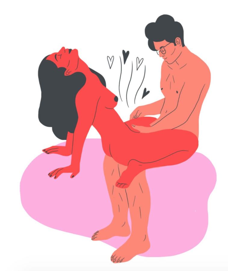 на коленях поза в сексе