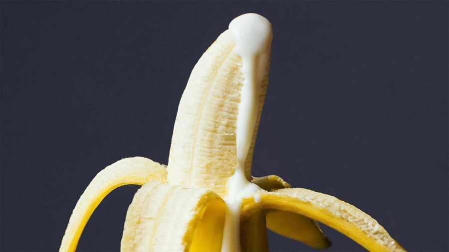 банан с кремом