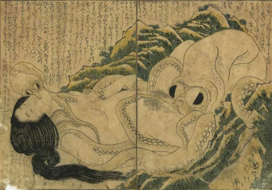 Катсушика Хокусаи «Сон жены рыбака»