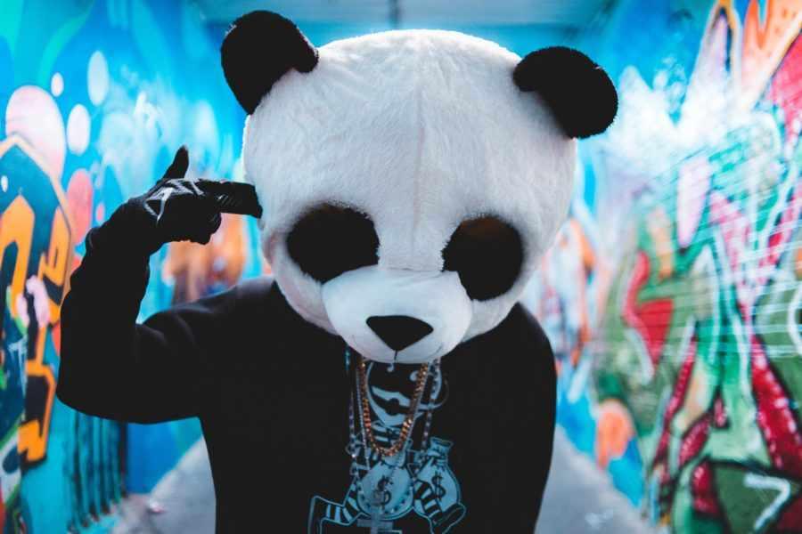 расстроенная панда