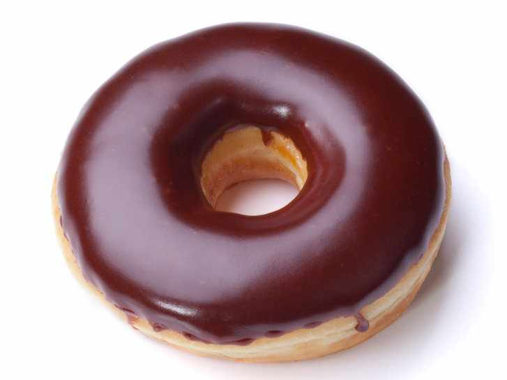 Пончик с шоколадом