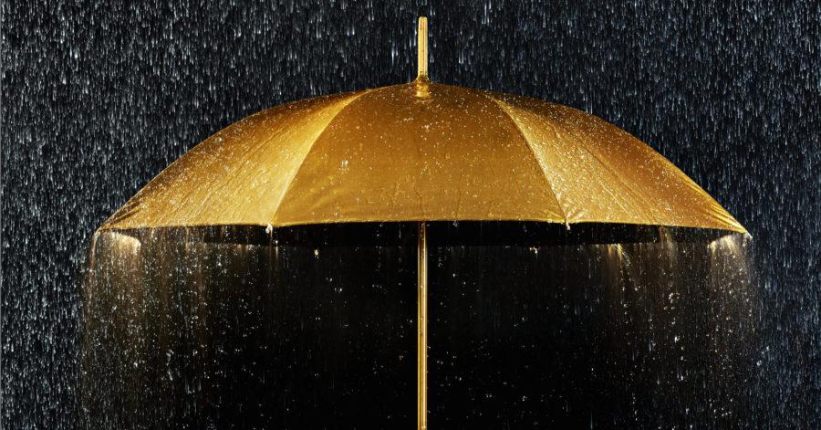 золотой зонт