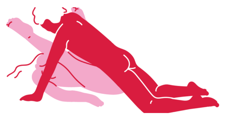 всеми ногами за поза в сексе