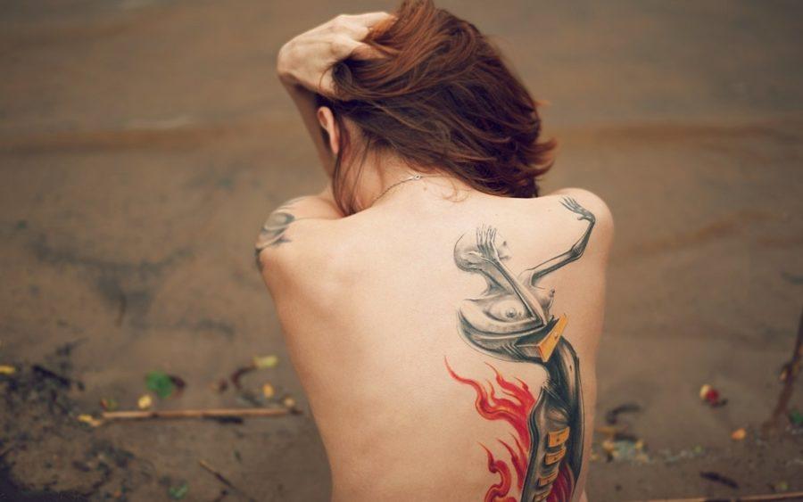женское тату