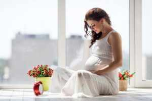 Женщина в период беременности