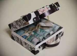 Подарить деньги на день рождения мужчине в портсигаре