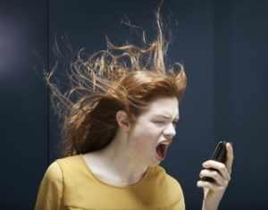 Девушка в гневе