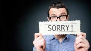 Просить прощение у девушки через смс