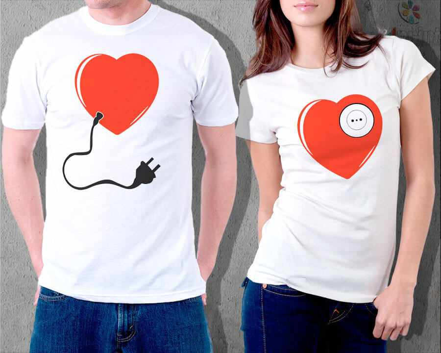 Предложение руки и сердца на футболке